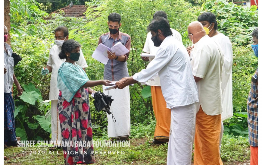 Distribution of groceries and vegetables and Financial aid to needy at Mannarkkad Town circle