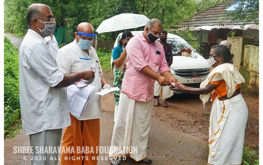 Distribution of groceries and vegetables and financial aid to needy at Pookottukavu