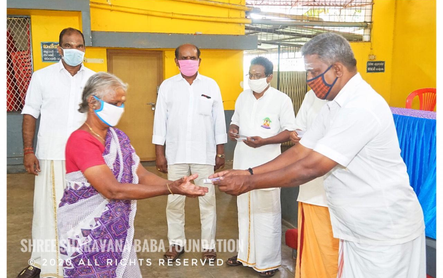 Distribution of groceries and vegetables and financial aid to needy at Edathara