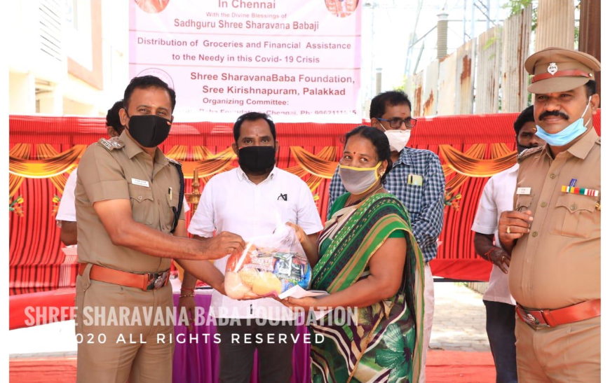 Distribution of groceries and vegetables and financial aid to needy at VGN Stafford -Thirumullaivoyal